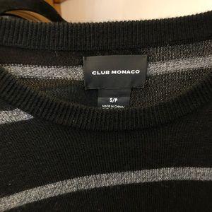 Club Monaco sweater black small striped